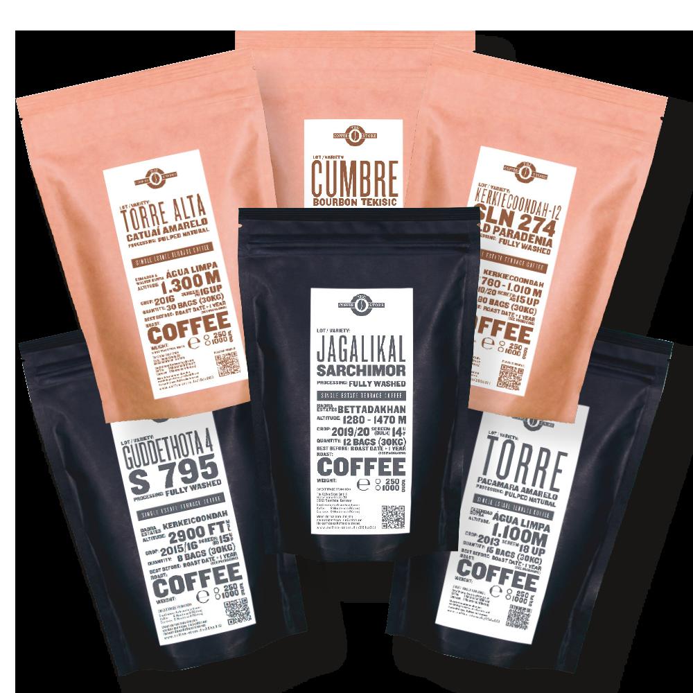 Entdeckerpaket Kaffeeröstung und Espressoröstung gemischt von The Coffee Store.
