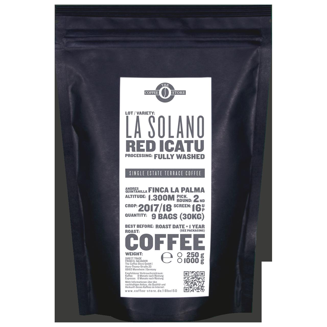 La Solano, Red Icatu - Kaffeeröstung