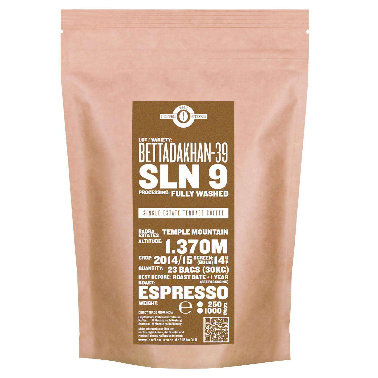 Bettadakhan - 39, SLN 9 - Espressoröstung